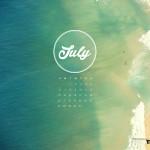 Calendario desktop Playa 1280x1024