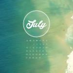 Calendario desktop Playa 2560x1440