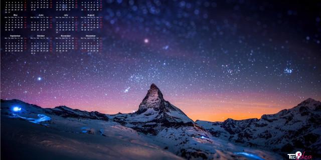 Wallpaper calendar 2017